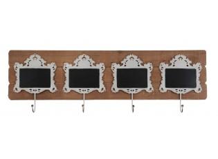 Závěsný věšák s bílými háčky - 90*8*28 cm
