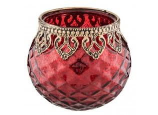Červený svícen na čajovou svíčku 10*10cm