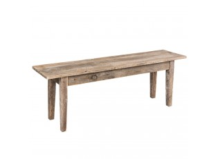Dřevěná lavice s patinou - 120*28*43 cm