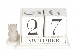 Dřevěný stolní kalendář v retro stylu - 23*11*12 cm