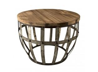 Kovový odkládací stolek - Ø 45*28*45 cm