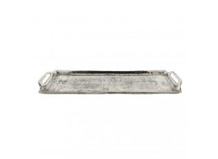 Kovový podnos antik silver-  44*13*4 cm