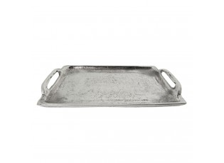 Kovový podnos antik silver-   26*14*3 cm