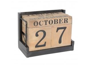 Dřevěný stolní kalendář v retro stylu - 20*11*15 cm