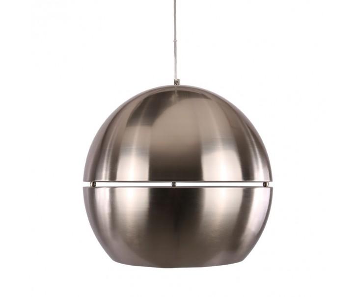 Matně chromové kovové retro světlo Axel - Ø40 cm