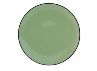 Dezertní talířek Enamel Look green -  Ø 20*2 cm