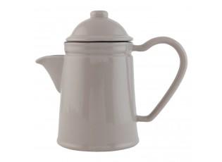 Retro konvička na čaj Enamel Look grey - 19*10*17 cm / 0,6 L