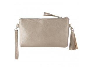 Zlatá kabelka Glitter Metalic - 13*33 cm