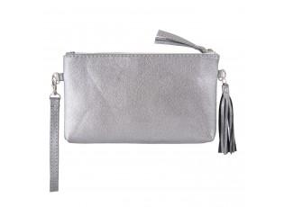 Stříbrná kabelka Glitter Metalic - 13*33 cm