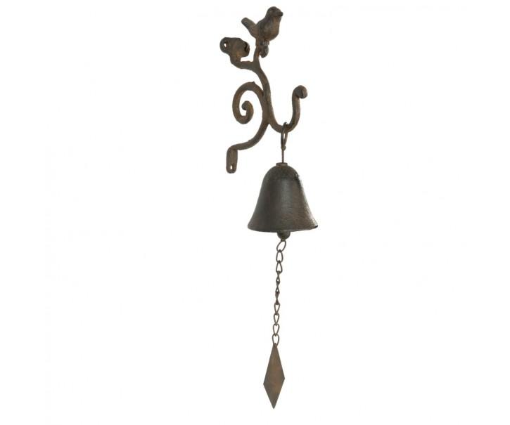 Litinový zvonek ptáček - 13*7*41 cm