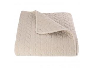 Béžový přehoz na jednolůžkové postele Quilt 186 - 140*220 cm