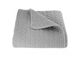 Šedý přehoz na jednolůžkové postele Quilt 186 - 140*220 cm