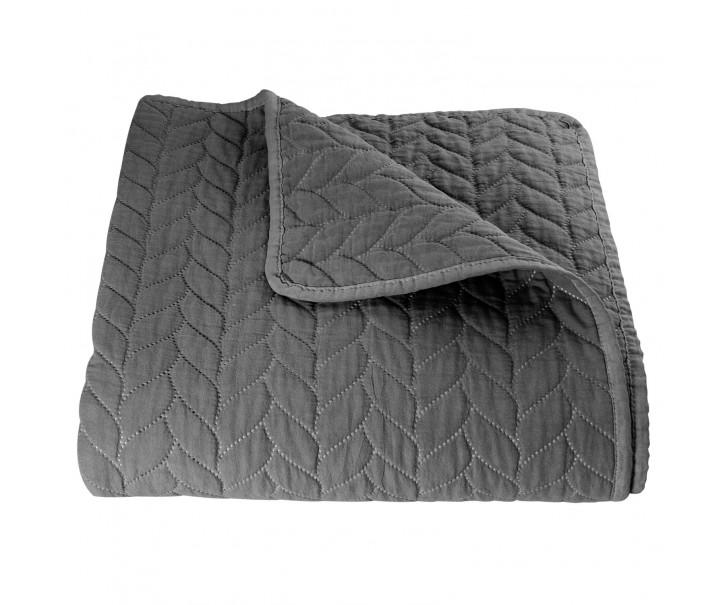 Tmavě šedý přehoz na dvoulůžkové postele Quilt 186 - 180*260 cm