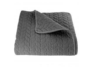 Tmavě šedý přehoz na dvoulůžkové postele Quilt 186 - 230*260 cm