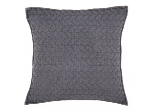 Tmavě šedý povlak na polštář Quilt 186 - 50*50cm