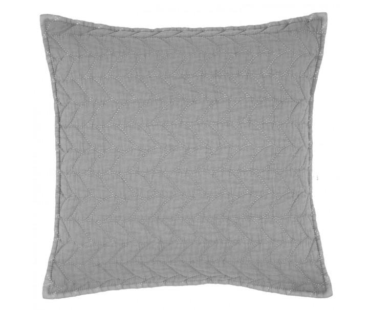 Šedý povlak na polštář Quilt 186 - 40*40cm