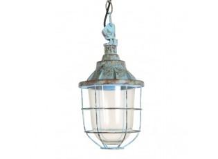 Modré kovové závěsné světlo Quarry - Ø 17*27 cm