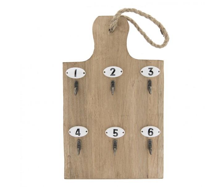 Věšák na klíče ve tvaru prkýnka - 21*4*45