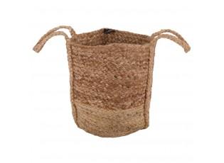Přírodní  jutový koš s uchy - Ø30*30 cm