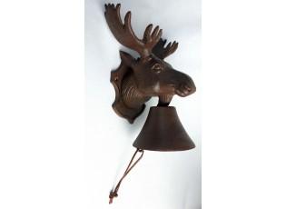 Litinový zvonek Los - 19*15*25 cm