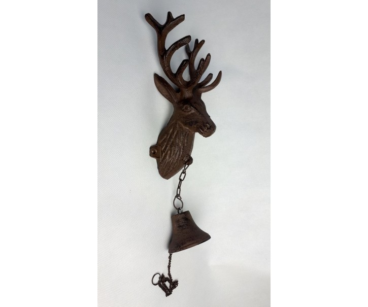 Litinový zvonek Jelen - 12*9*35 cm