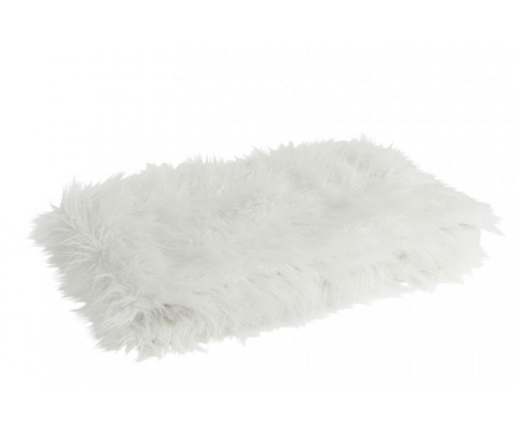 Bílý hlupatý pléd Yetti - 130*180 cm