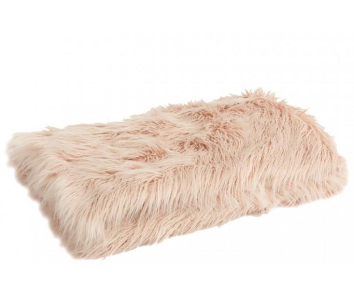 Růžový chlupatý pléd Yetti - 130*180 cm
