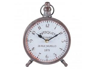 Kovové stolní hodiny ve vintage stylu Antiquite  - 16*4*27 cm