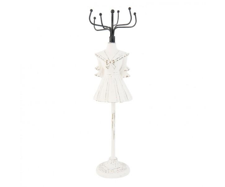 Bílý stojánek na šperky - 8*8*28cm