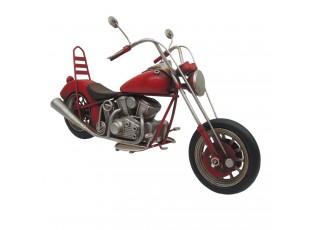 Kovový retro  model červený motocykl - 28*10*15 cm