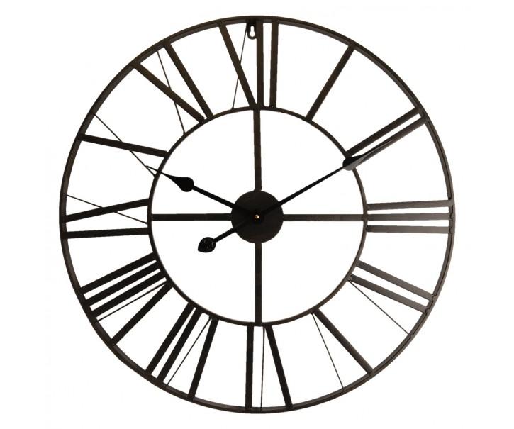 Kovové hodiny s římskými číslicemi - Ø 60*4 cm
