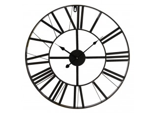 Kovové hodiny s římskými číslicemi - Ø 50*4 cm