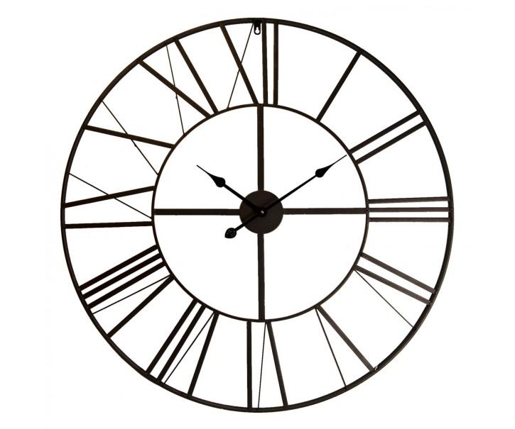 Kovové hodiny s římskými číslicemi - Ø 90*4 cm