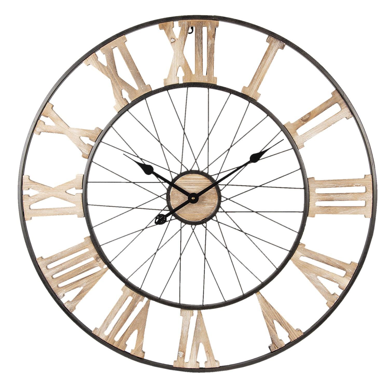 Kovové nástěnné hodiny - Ø 80*4 cm
