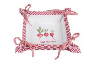 Oboustranný košíček na pečivo Petit Plaisir - 35*35*8 cm