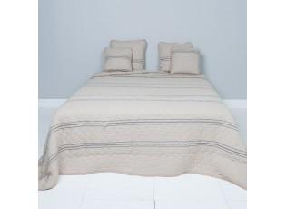 Béžový přehoz na dvoulůžkové postele Quilt 171 - 230*260 cm