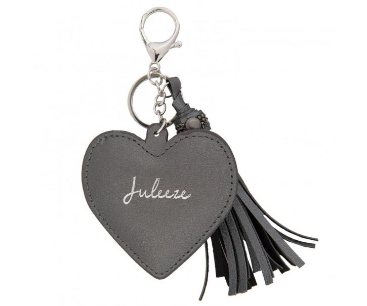 Přívěsek na klíče Heart tassel black