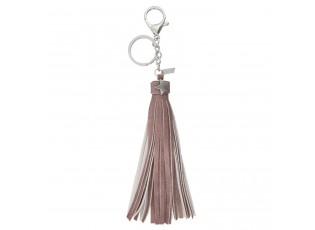 Přívěsek na klíče Star tassed pink