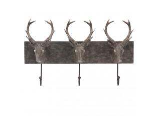Nástěnný věšák s jeleny - 44*10*28 cm