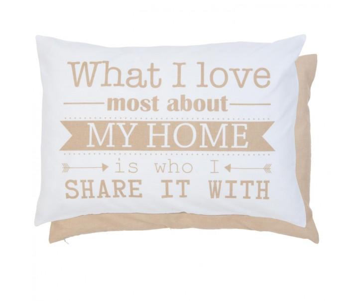 Povlak na polštář What I love - 35*50cm