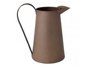 Dekorační plechový džbánek hnědý - 23*15*24 cm / 2.5 L