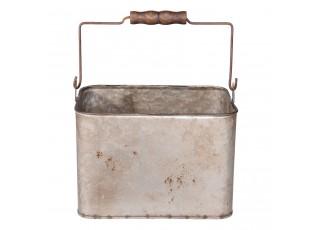 Plechový box s rukojetí - 23*17*17 cm / 4,9L
