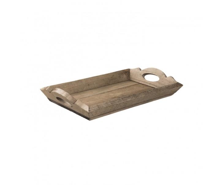 Dřevěný servírovací podnos - 42*25*7 cm