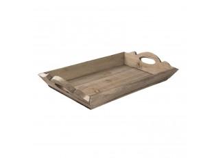 Dřevěný servírovací podnos - 46*29*8 cm