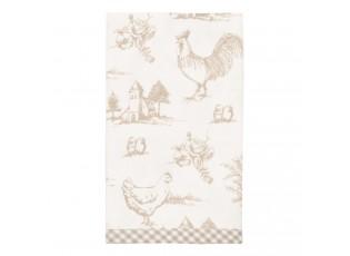 Textilní ubrousky Chicken farm natural - 40*40 cm