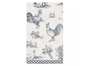 Textilní ubrousky Chicken farm blue - 40*40 cm