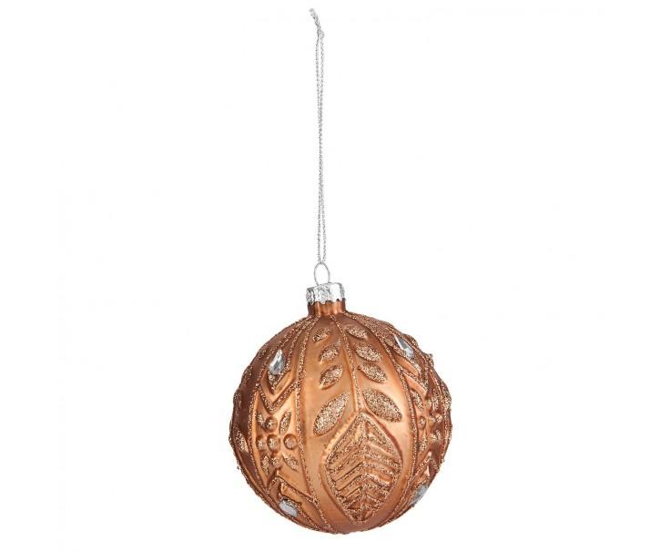 Bronzová vánoční ozdoba  - Ø 8 cm- sada 6ks