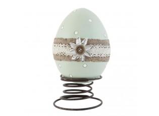 Dekorace  vajíčko na pružině  - 16*12*21 cm