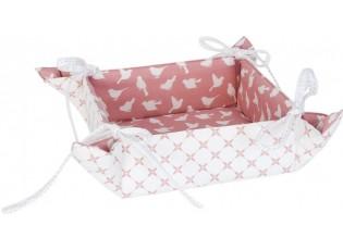 Textilní oboustranný košíček na pečivo Fly Away - 40*40 cm