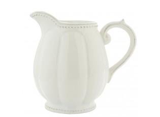 Bílý džbánek s patinou - 20*14*18 cm